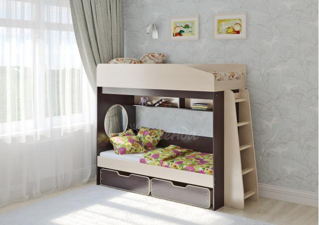 Двухъярусная кровать Легенда 10.2