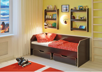 <span>Детская кровать</span> Легенда 13.1 с полками