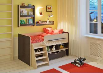 <span>Детская кровать</span> Легенда 6 с полками