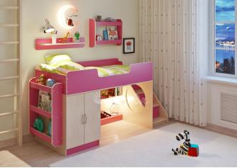 <span>Детская кровать</span> Легенда 2.4 с полками