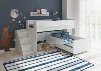 <span>Двухъярусная кровать</span> Легенда 23.4 белая