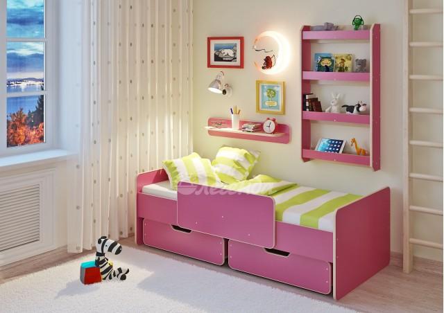 <span>Детская кровать</span> Легенда 14.1 с полками