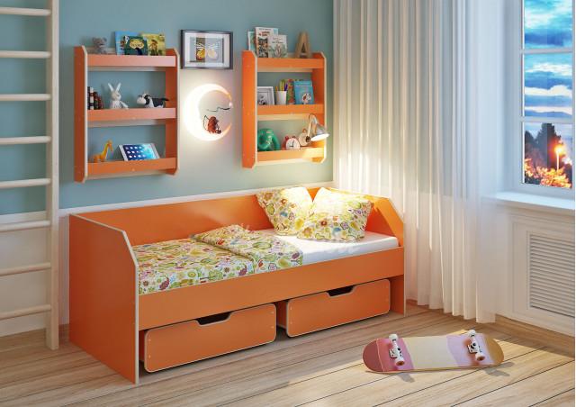 Детская кровать  Легенда 13.1 с полками