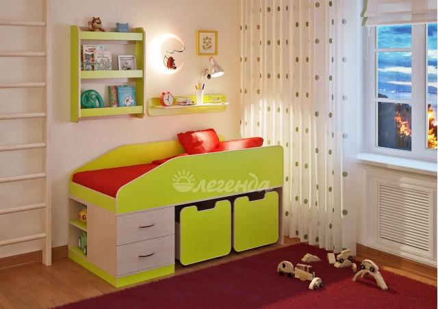 <span>Детская кровать</span> Легенда 8 с полками