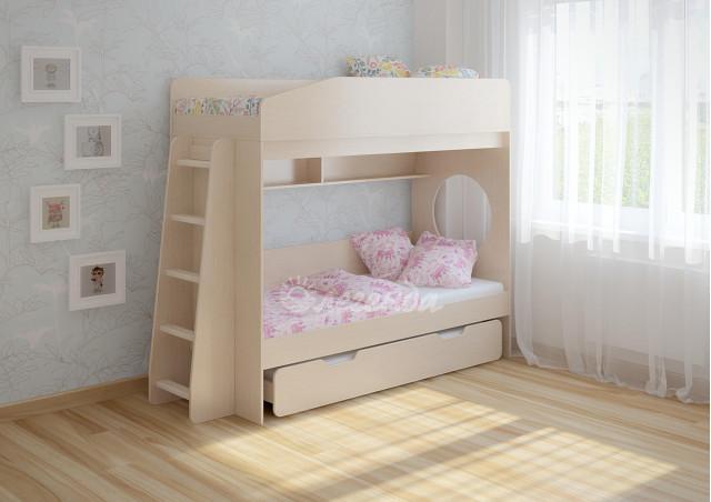 <span>Трехъярусная кровать выдвижная</span> Легенда 10.4