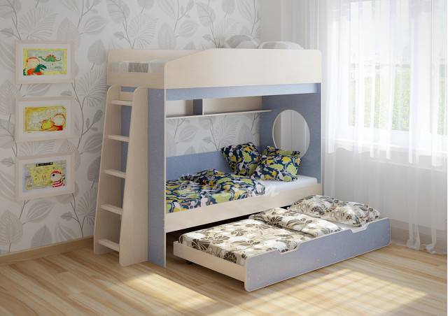 Трехъярусная кровать Легенда 10.4