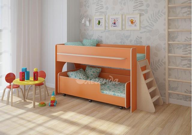 <span>Двухъярусная кровать выкатная</span> Легенда 23.3