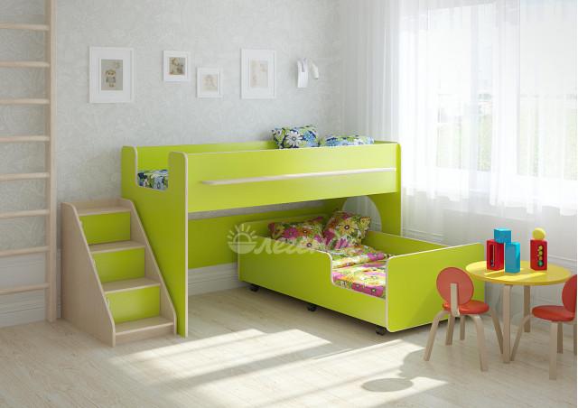 Двухъярусная кровать выкатная Легенда 23.4