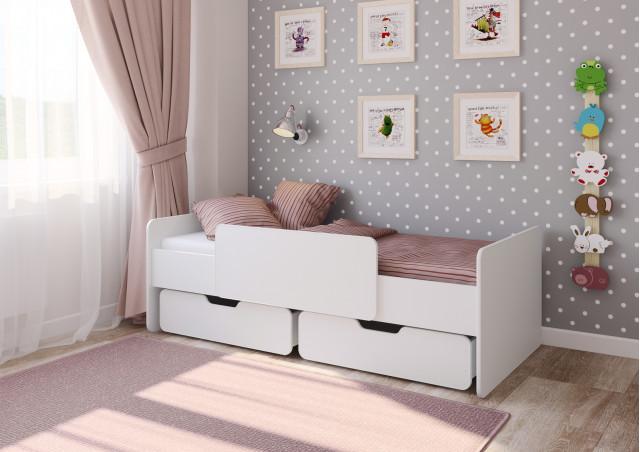 <span>Детская кровать</span> Легенда 14.1 белая