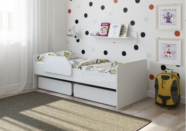 <span>Детская кровать от 3 лет</span> Легенда 27.1 белая