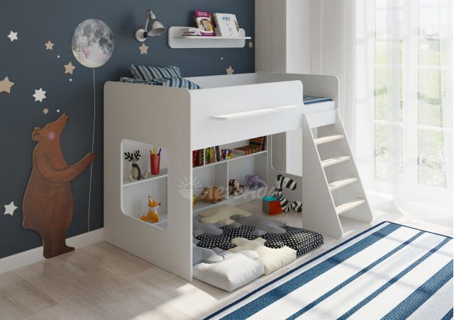 <span>Детская кровать</span> Легенда 22.1 белая
