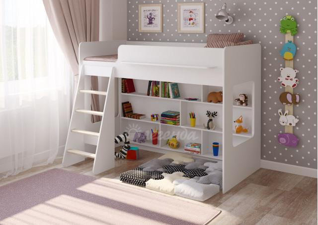 <span>Детская кровать</span> Легенда 26.1 белая