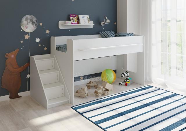 <span>Детская кровать</span> Легенда 23.2 белая