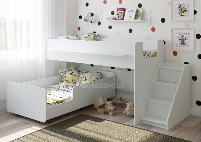 Двухъярусная кровать Легенда 23.4 белая