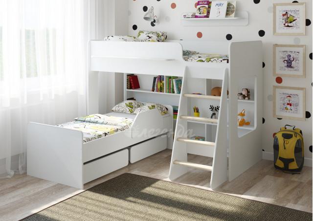 <span>Двухъярусная кровать</span> Легенда 26.2 белая