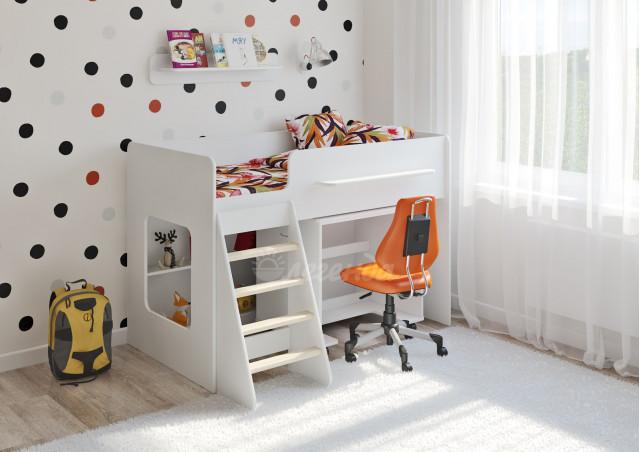 <span>Детская кровать</span> Легенда 22.2 белая