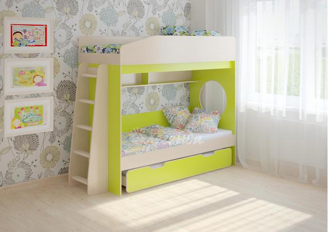 Детская выдвижная кровать Легенда 10.4