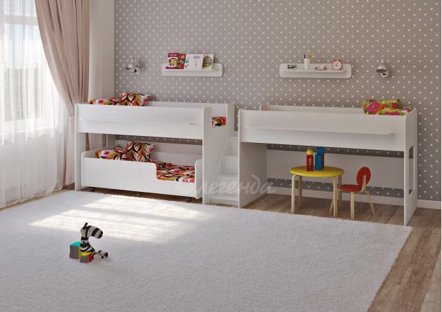 Детская выкатная кровать Легенда 23.5 белая