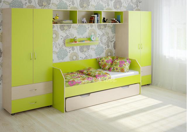 Детская стенка с выдвижной кроватью Легенда №15