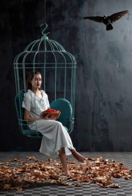 Садовое кресло в виде клетки для птиц