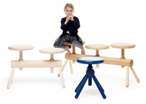 Шведский дизайнер придумала стулья для детей