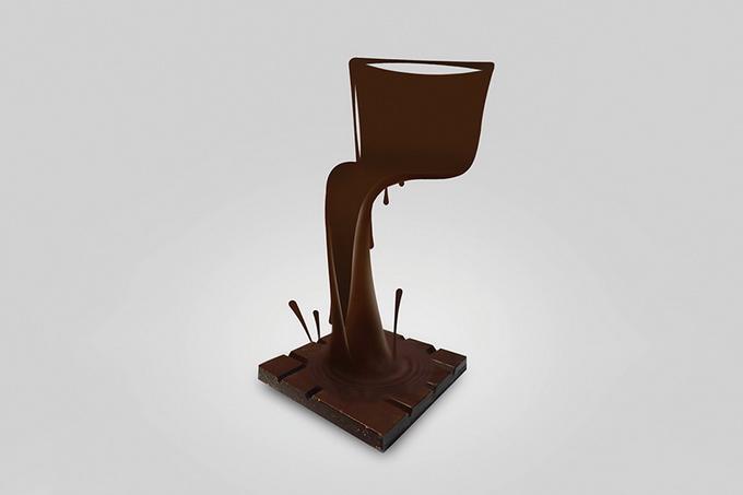 стул из шоколада