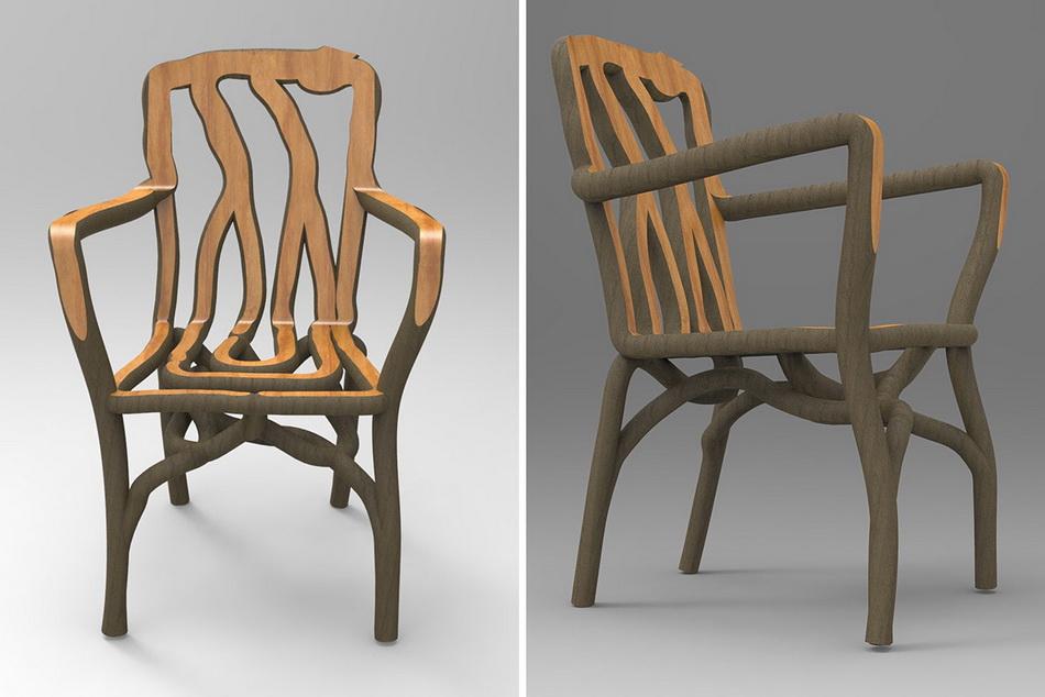 кресло с грядки