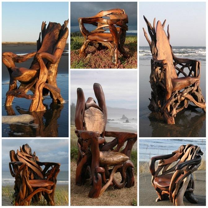 Мебель из коряги