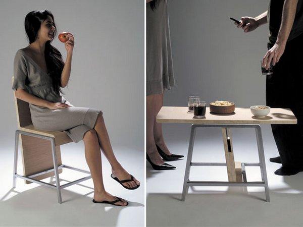 Трансформер стул-стол