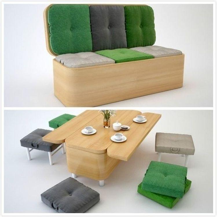 Диван-стол с табуретками