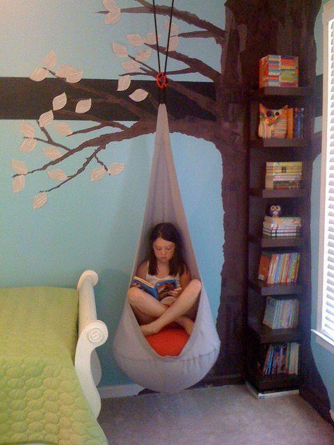Подвесной стул для чтения