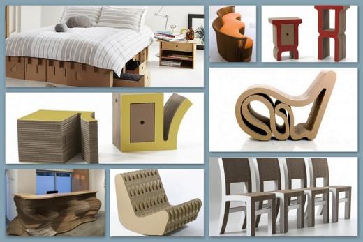 Изящная мебель из картона