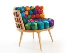 Обрезки шелка как материал для мебели