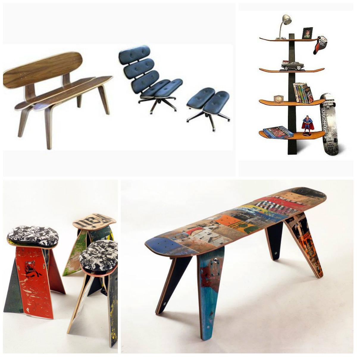 Мебель из скейт-досок