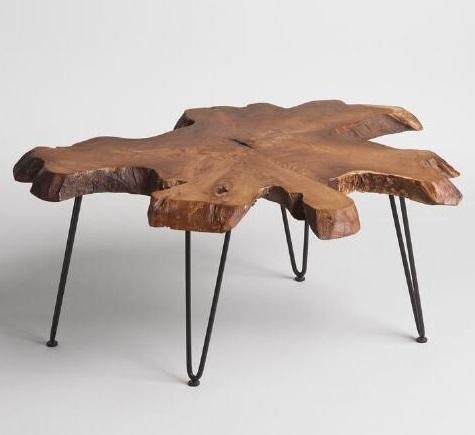 """Журнальный столик """"Кусочек дерева"""""""