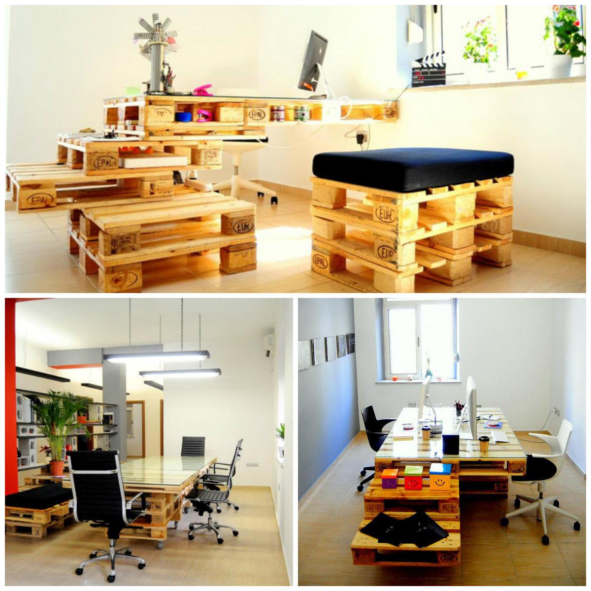 Офисная мебель из деревянных поддонов