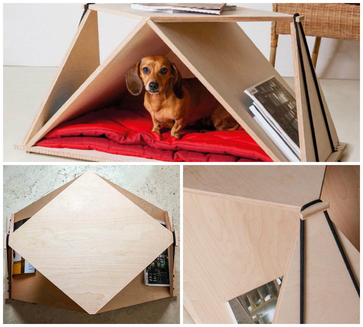 Столик из фанеры в стиле оригами