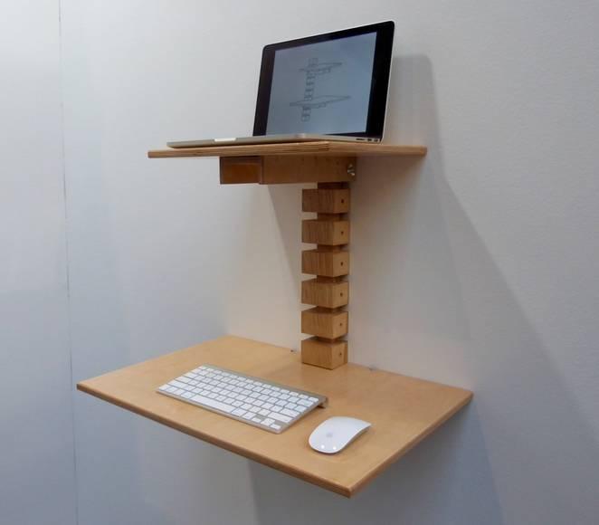 Дизайнерский деревянный стол с регулируемой высотой