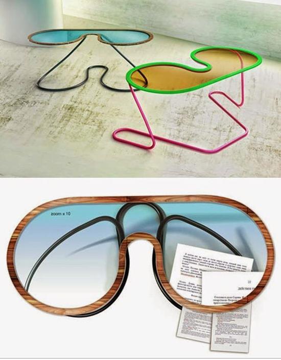 Столик в виде солнцезащитных очков