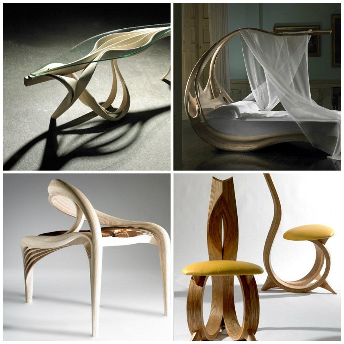 Изящество дерева: удивительная мебель от Джозефа Уолша
