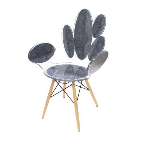 Кресло из акриловых овалов