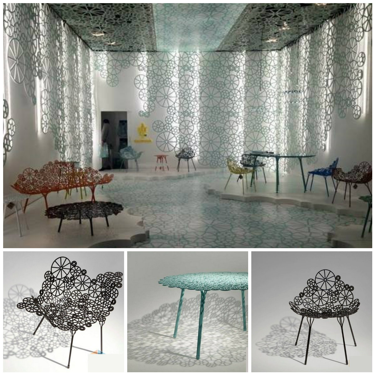 Ажурная металлическая мебель