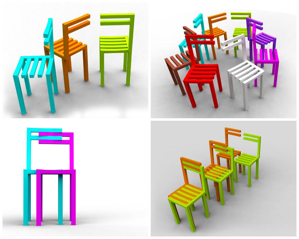 Двойные стулья от Александро Фигередо