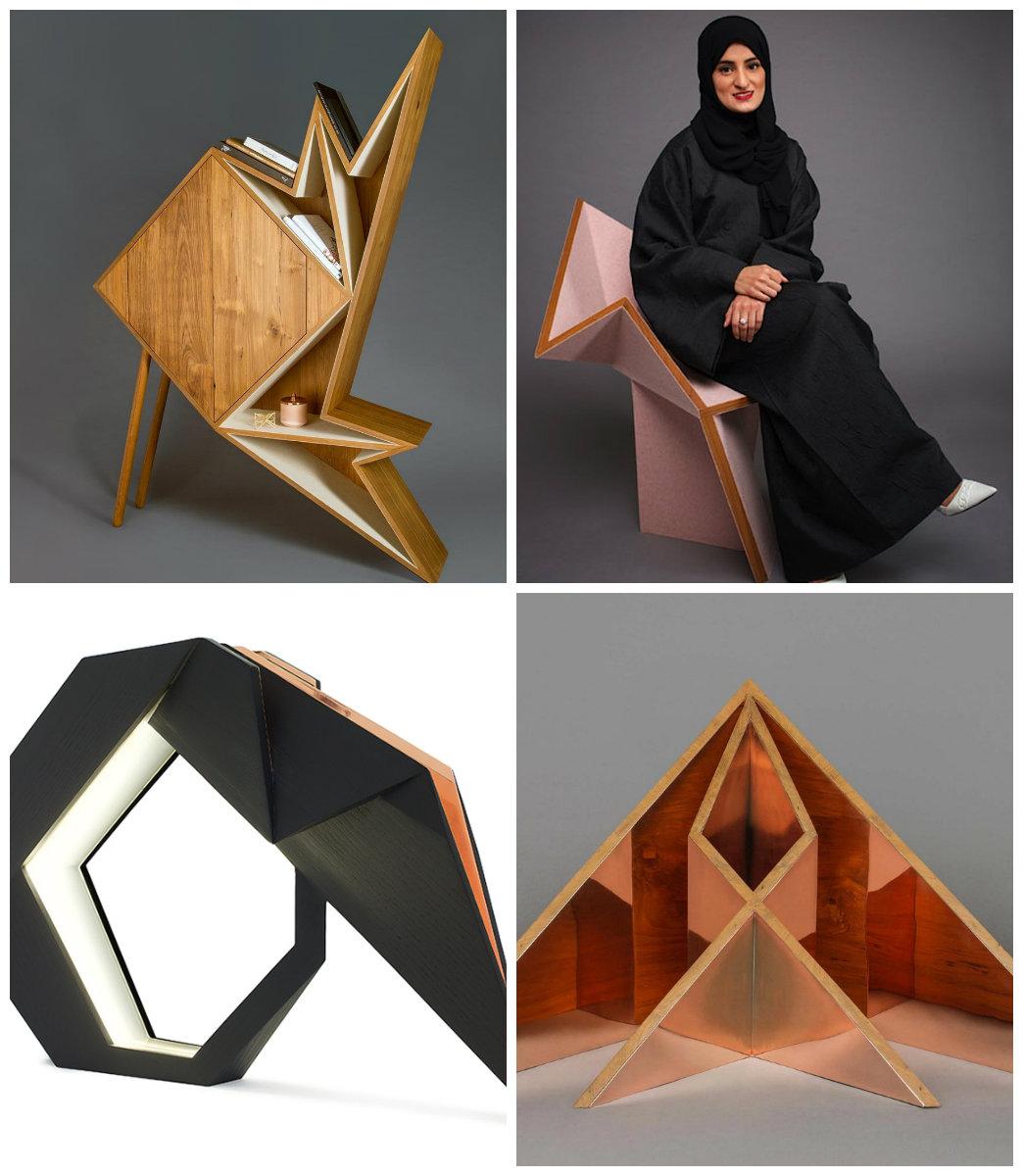 Геометрическая мебель: форма и функция, оригами-стиль