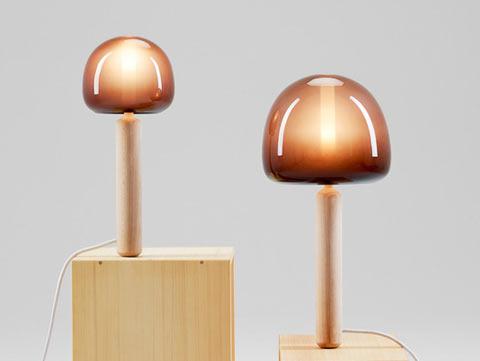 Лампа, похожая на опёнок